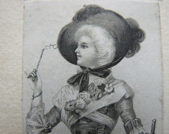 map of the Lady with the hat
