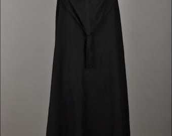 50272f9ac43 Yves Saint Laurent Rive Gauche 1970s Black Hooded Cape Russian Collection  Russe