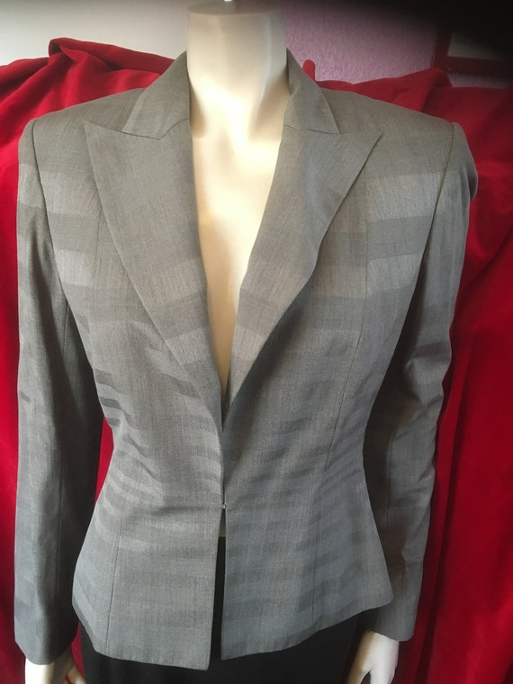 Christian Dior Fitted Waist Jacket Padded Shoulder