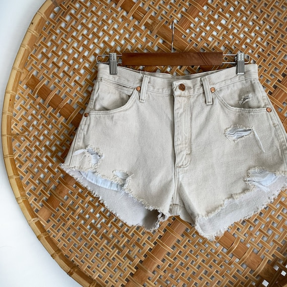Tan WRANGLER Vintage Denim Shorts High Waisted Sho