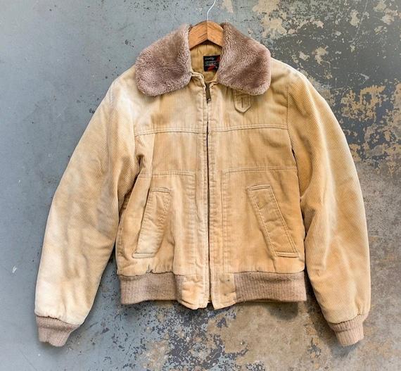 Vintage Corduroy Jacket, Unisex Corduroy Bomber Ja