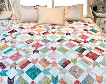 Batik Garden Downloadable Quilt Pattern