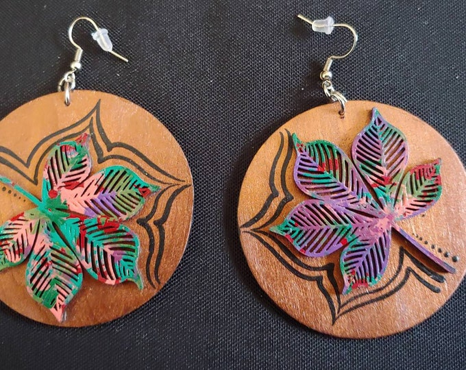 Wooden Crafted Earrings