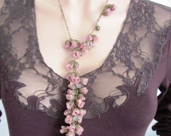 Powder Pink necklace fabric