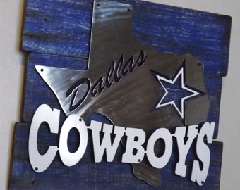 Dallas Cowboys 3D multi-layered metal art on reclaimed pallet wood frame