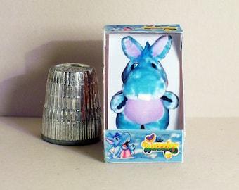 Wuzzles Hoppopotamus Box - Dollhouse Miniature - 1:12 scale - Dollhouse Accessory - 1980s Dollhouse boy girl baby nursery toy box
