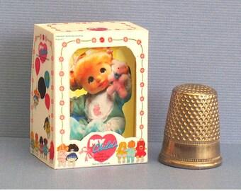 My Child Baby Doll Box - UK Version   Dollhouse Miniature - 1:12 scale Dollhouse Accessory - 1980s Dollhouse girl baby nursery toy