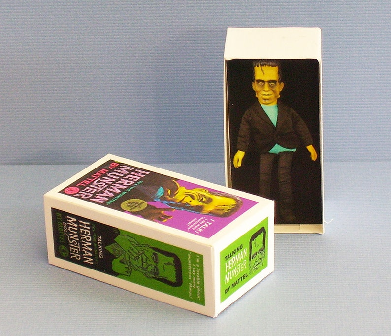 DOLLHOUSE MINIATURE ~ HALLOWEEN FRANKENSTEIN COSTUME BOX
