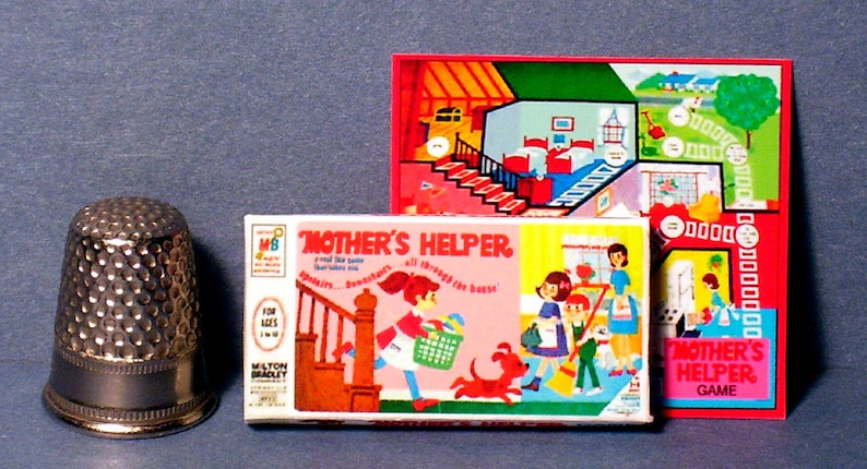 Dollhouse Miniature 1:12 Pollyanna Game 1960s dollhouse girl board game toy