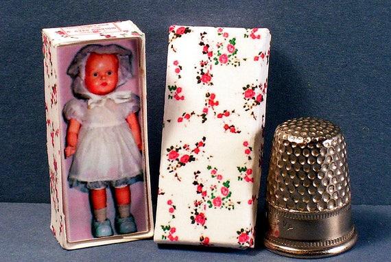 Dollhouse Miniature 1:12 Toodles Doll Box 1950s retro dollhouse girl nursery