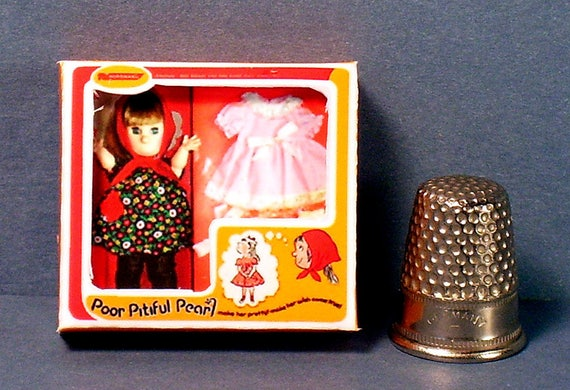 Barbie Doll 1:6 Miniature Toy Thumbelina Doll Box  NO REAL DOLL