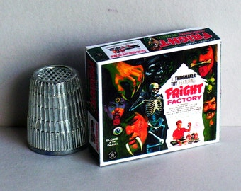 Fright Factory ThingmakerToy Box - Doll House Miniature  1:12 scale Dollhouse Accessory - 1960s Dollhouse Haunted House Halloween game toy