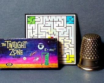 The Twilight Zone Game 1964  - Dollhouse Miniature - 1:12 scale - Game Box and Game Board - 1960s Dollhouse Twilight Zone Game toy