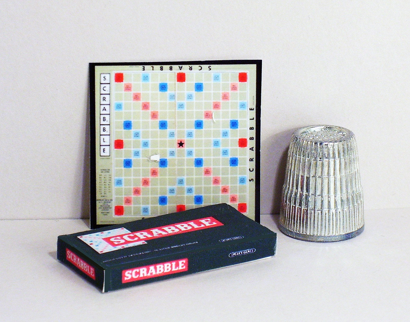 1//2 Half Inch Scale Dollhouse Miniature SCRABBLE Game Box