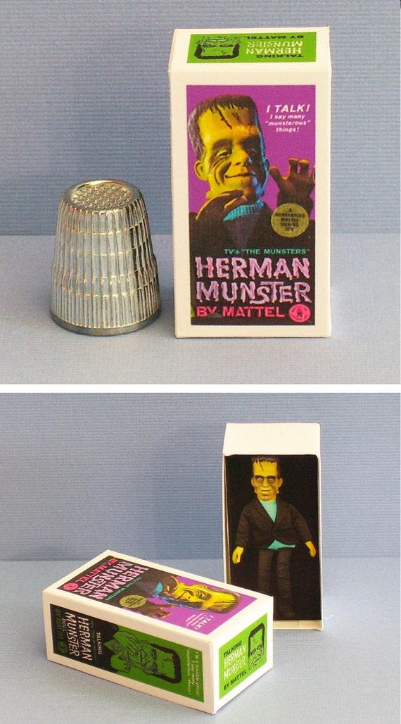 Dollhouse Miniature 1:12 Vincent Price Shrunken Head Kit Box 1970s Haunted House