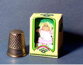 Cabbage Patch Kid Girl Doll Box  -  Dollhouse Miniature - 1:12 scale - Dollhouse Accessory - 1980s Dollhouse baby nursery girl toy