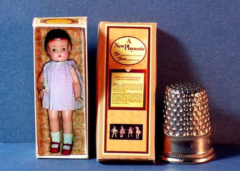 Dollhouse Miniature 1:12 scale Dancerina Doll Box 1960s dollhouse ballerina girl