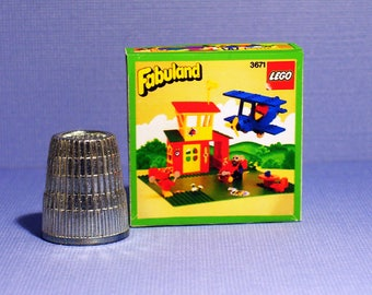 Lego Fabuland Airport Box - Doll House Miniature  1:12 scale - Dollhouse accessory - Miniature box replica - 1980s Dollhouse Lego box
