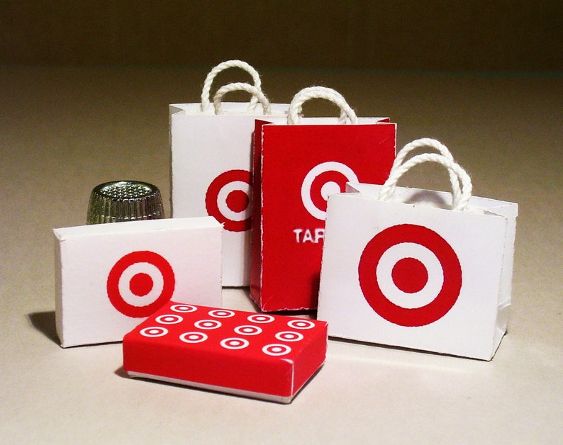 8a40e39fe62 Target Store Shopping Bag and Gift Box Set Dollhouse