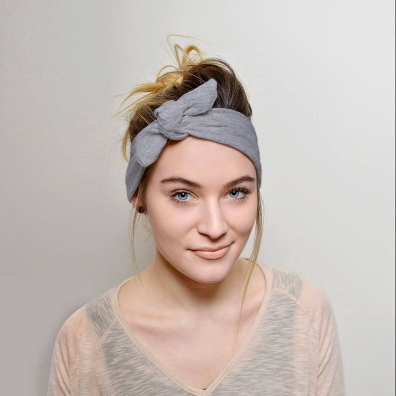 Grey adult headband headbands for women Top Knot Headband  e6c00e69aa0