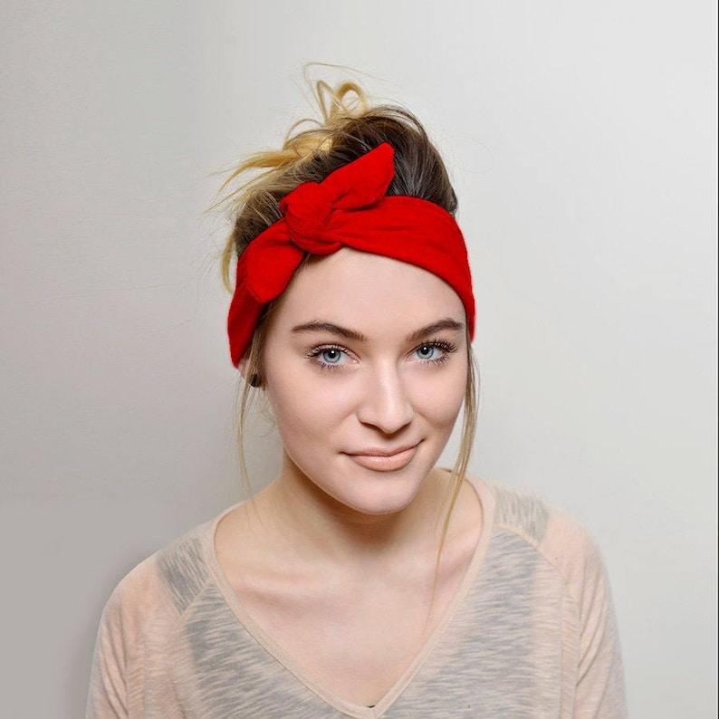 ad105a8973f Red Headband Adults Hair Accessories Womens Headband Tie