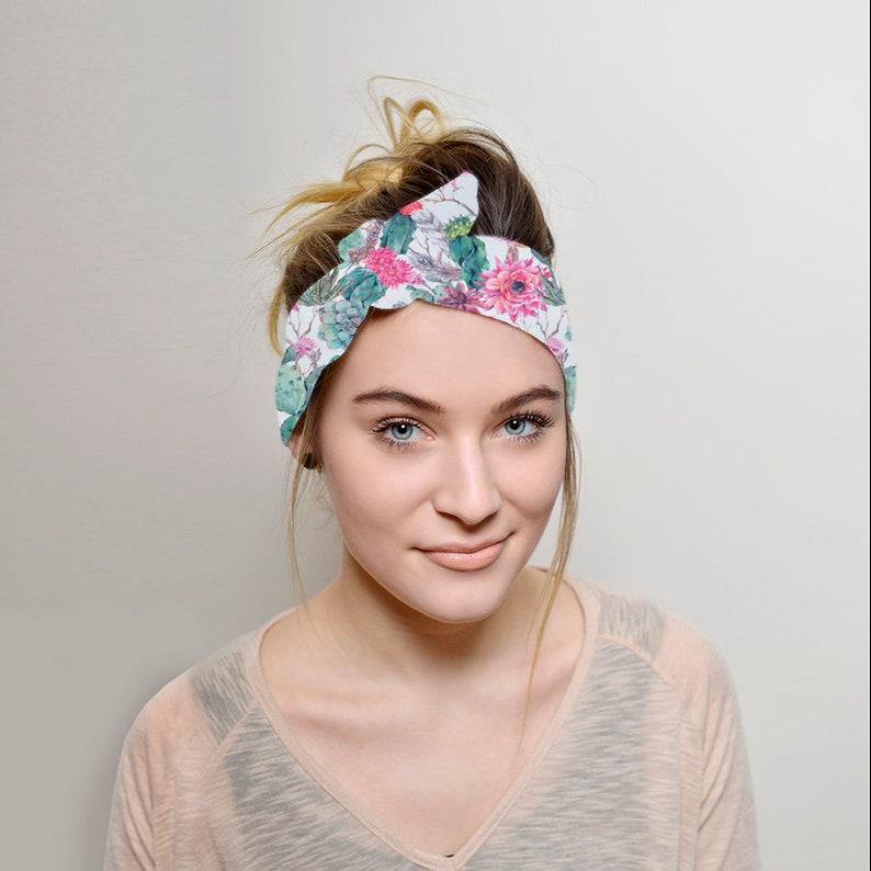 c4f471925ae6 Cacti Headband Adult Tie headband Women Vintage style tie