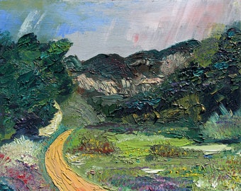 Santa Barbara Botanical Garden, , Original Oil Painting, 8 x 10 inches by Alex Roediger