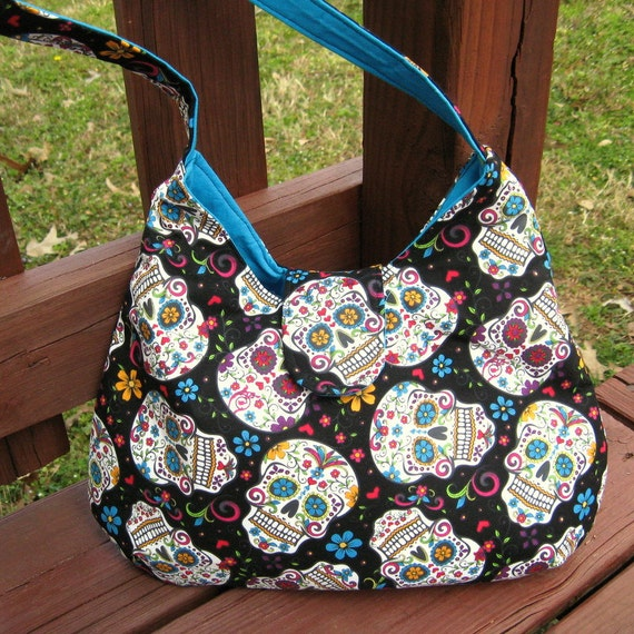 Skull Purse Hobo Bag Hobo Purse   Day Of The Dead Bag Sugar  dbb51dd5461fa