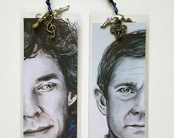 SHERLOCK HOLMES inspired Bookmarks  ! Different Variations - Benedict Cumberbatch - Martin Freeman - Andrew Scott - John Watson - Moriarty