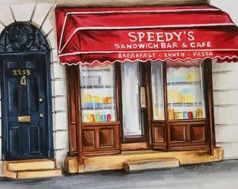 Memories of Speedy's Cafe - Sherlock -Print