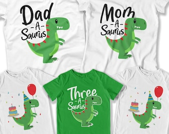 3rd Birthday Shirt Dinosaur Party Themes For Kids Gift Boys T Toddler Clothes Bday DAT 3130 31 34 29