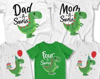 Kids Dinosaur Shirt Boys Birthday Party Theme Ideas Fourth Boy 4 Year Old Gift Toddler DAT 3130 31 35 29