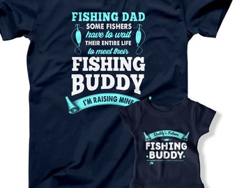 fda3329c1 Fishing Dad and Buddy Matching T-Shirts For Fathers Day Dad And Baby Boy  Fisherman Fishing With My Son Baby Bodysuit Fish FOT-41-42