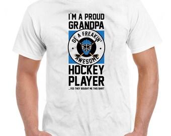 4deffdfdc0 Hockey Grandpa Shirt Fathers Day Gift Grandfather T Shirt Hockey Gifts For  Grandpa Proud Grandpa Shirt Hockey TShirt Mens Tee DN-522