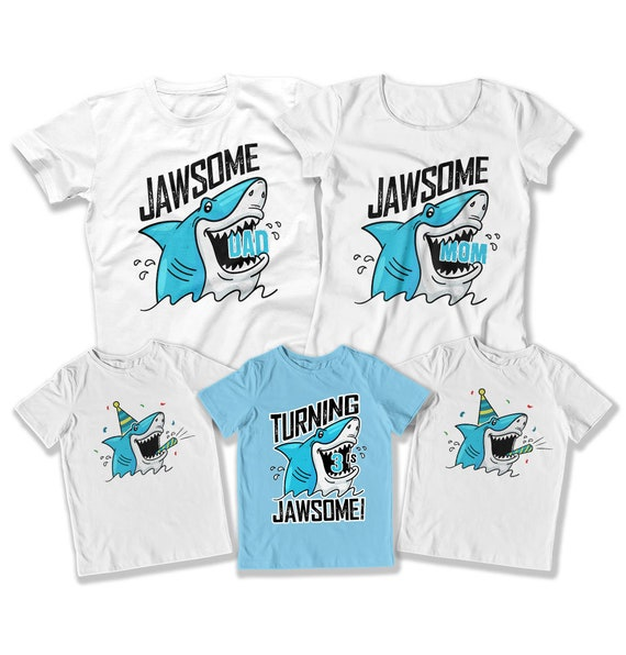 3rd Birthday Shirt Matching Birthday 3 Year Old Boy Gift For Shark Lover Toddler Birthday Outfit Kids Party Ideas Dat 3154 55 56 Tep 1496