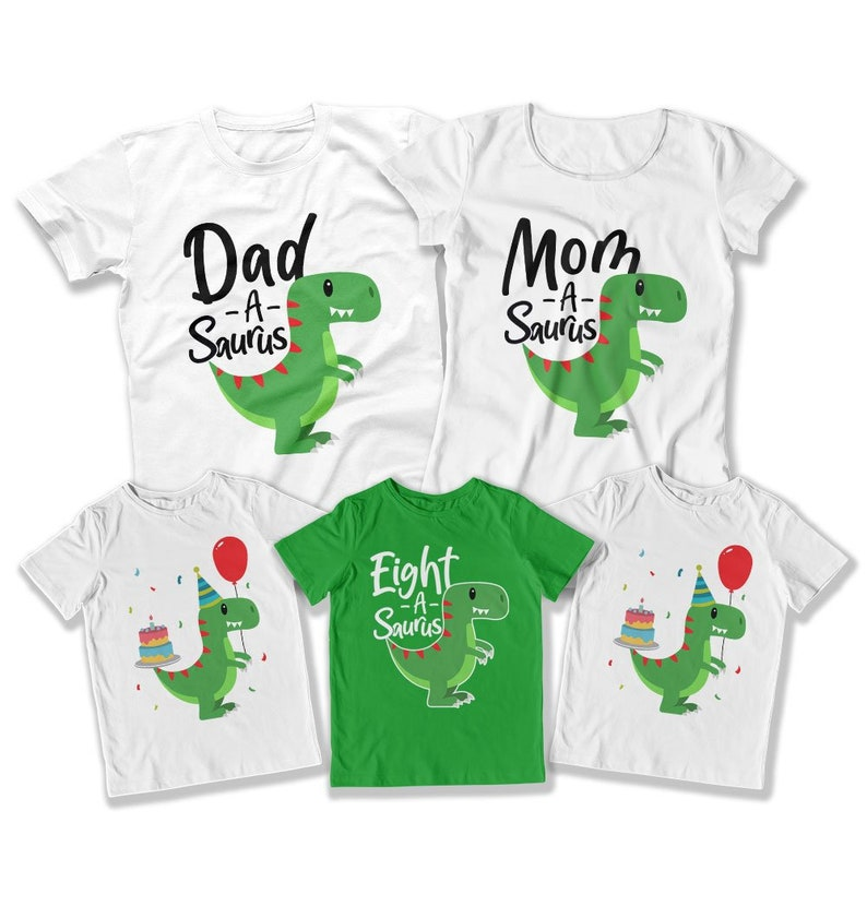 Dinosaur Party Shirt 8th Birthday Outfit Bday Gifts For 8 Year