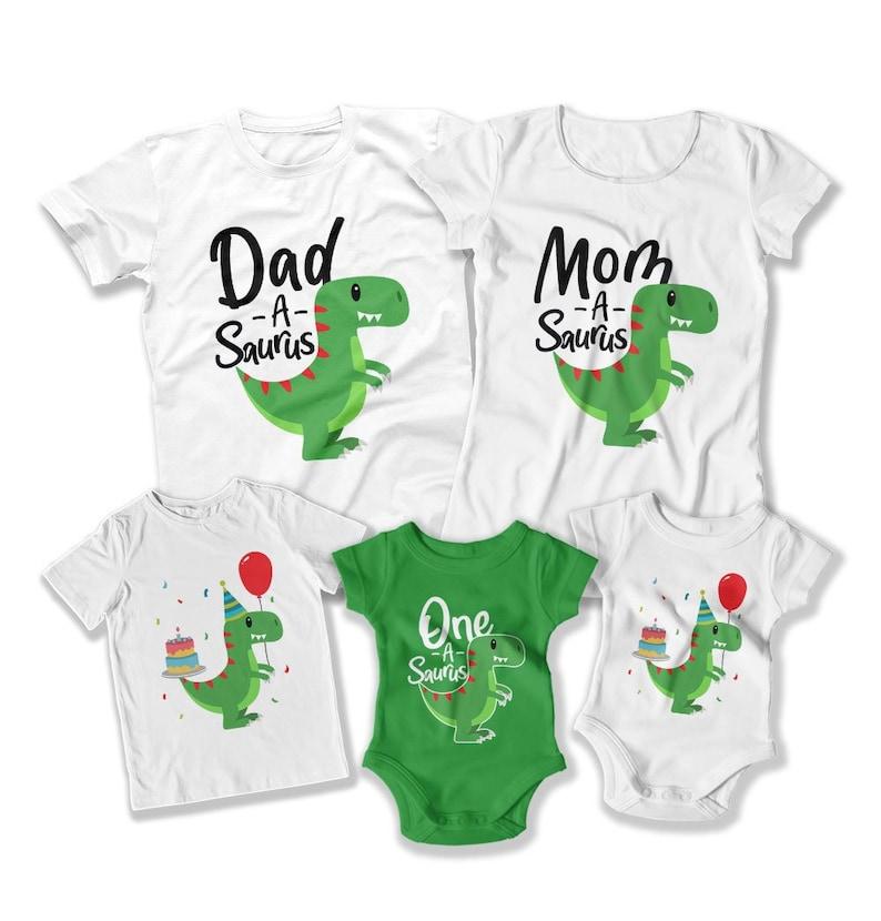 Kids Dinosaur Birthday Shirt First Party 1st Image 0