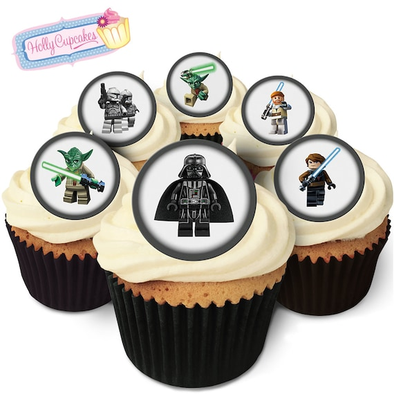 Building Block Star Wars 24 Pre Cut Edible Round Wafer Cake Etsy