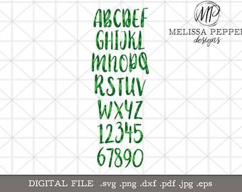 Shamrock Font,st patricks day font design,four leaf clover,font svg,no pinch shirt,st pattys day silhouette,cut file,four leaf clover font