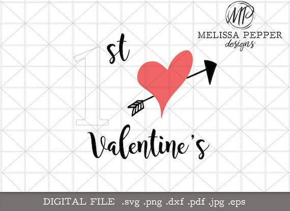 1st Valentine S Day Svgfirst Valentines Cut Etsy