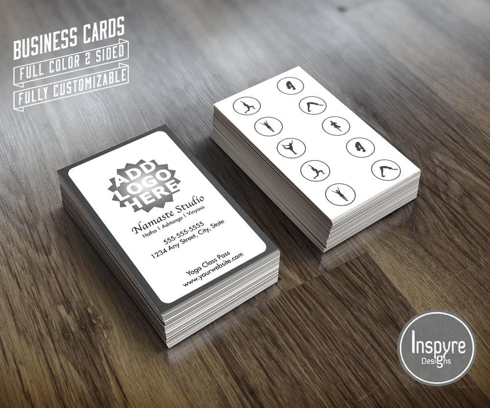 Yoga 10 Class Pass Business Card Template