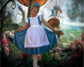 Alice In Wonderland Costume Etsy
