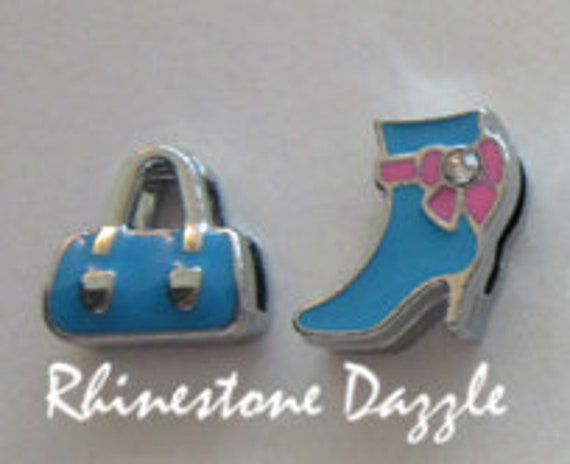 slider charms Boot and purse 8mm slide charms personalized jewelry custom bracelet