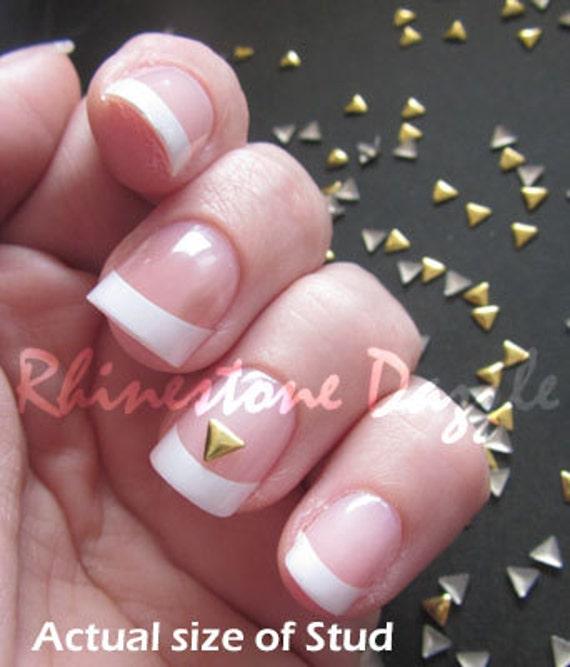 4mm Gold Triangle Nail Studs Nail Art 3d Nail Design Diy Etsy