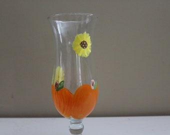 hand painted hurricane glass