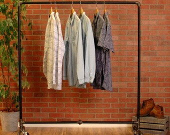Clothes Rack | Rolling Garment Rack | Clothing Rack | Pipe Clothing Rack | Closet  Organizer | Garment Storage Rack | FAST FREE SHIPPING!!!