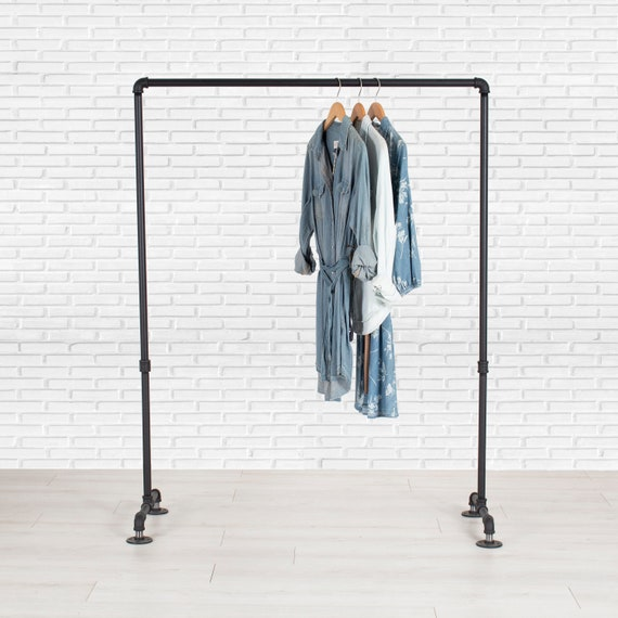 Garment Rack Clothing Rack Clothes Rack Industrial Pipe Etsy
