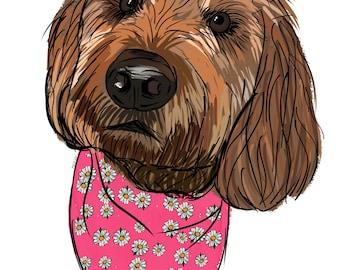Custom Drawn Pet Portrait *Digital Image*