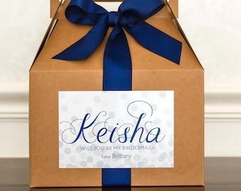 Will You Be My Bridesmaid Box. Bridesmaid Gable Box. Bridesmaid Ask Box. Bridal Party Invite. Maid of Honor Gift. Bridesmaid Proposal Box