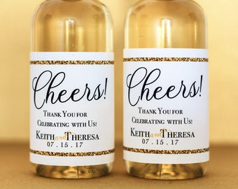 wedding mini champagne bottle labels wedding mini champagne etsy